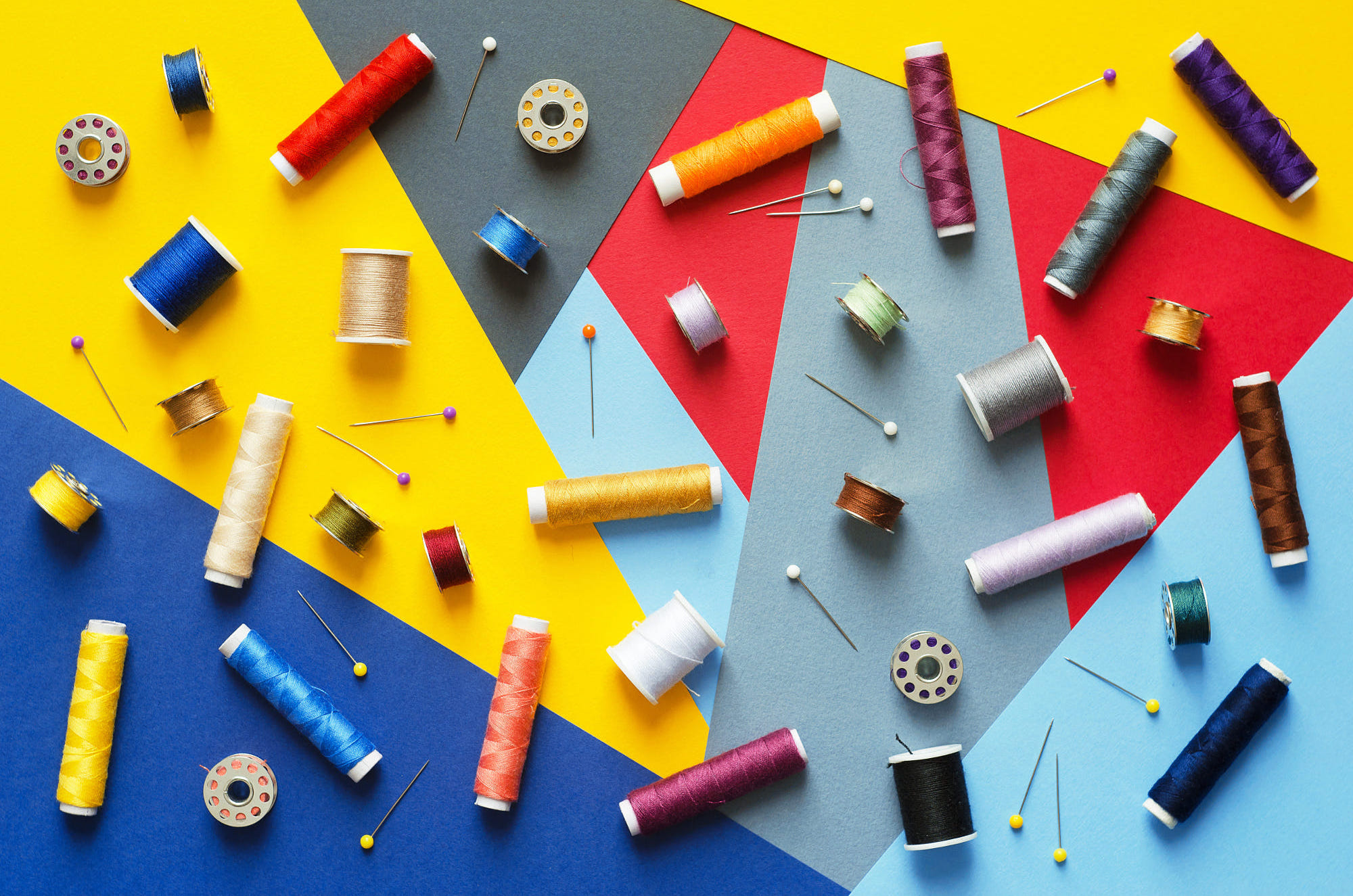 The Fabric Tale Colorful thread spools