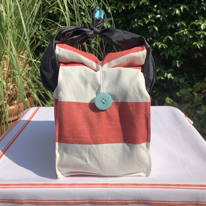 kit pic nic a righe bianco e rosso